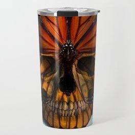 SKULL (MONARCH BUTTERFLY) Travel Mug