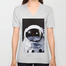 Astronaut Golf Course on the Moon Unisex V-Neck