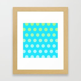 It's raining circles Framed Art Print