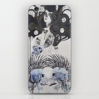 goth iPhone & iPod Skins featuring Goth spirit  by Aggelikh Xiarxh