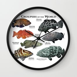 Groupers of the World Wall Clock