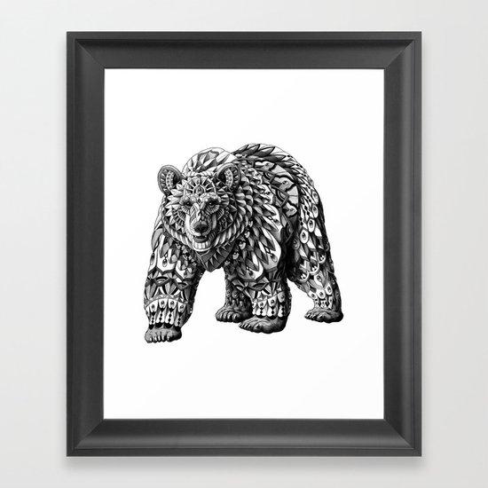 Ornate Bear Framed Art Print