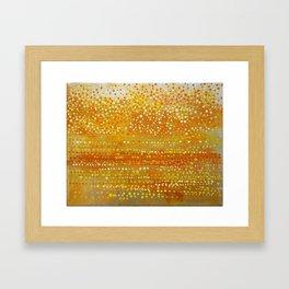 Landscape Dots - Orange Framed Art Print