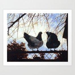 Wyandotte Chickens Art Print