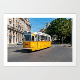 Famous Tramway two in Budapest Art Print