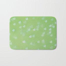 Green Hearts Bath Mat
