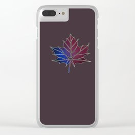 Purple Fall Clear iPhone Case