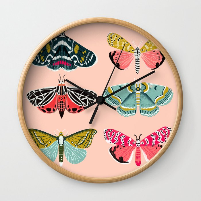 Lepidoptery No. 1 by Andrea Lauren  Wall Clock
