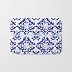 blue tile pattern VI - Azulejos, Portuguese tiles Bath Mat