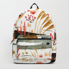 Night Snow illustration by Amanda Laurel Atkins Backpack