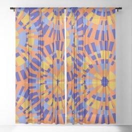 Purple mosaic pattern Sheer Curtain