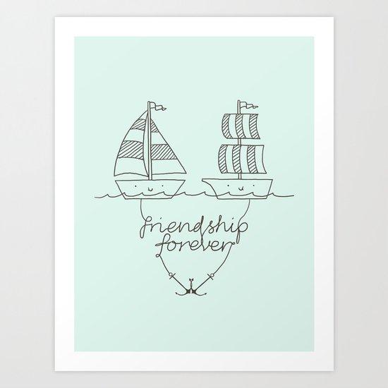 Friendship forever Art Print