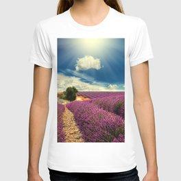 Beautiful image of lavender field T-shirt