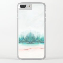 blue and green Clear iPhone Case