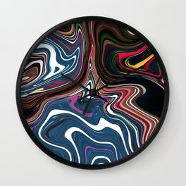 Technicolour Yawn Wall Clock