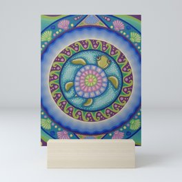 Little Turtle Mandala Mini Art Print