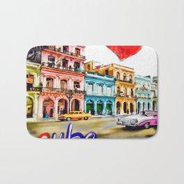 I  love Cuba Bath Mat