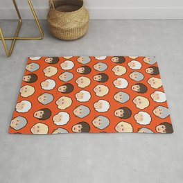 The Golden Girls Orange Pop Art Rug
