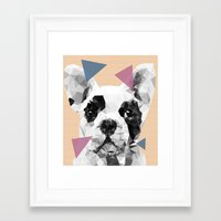 frenchie Framed Art Prints featuring Frenchie by Esco