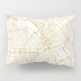 San Jose Map Gold Pillow Sham