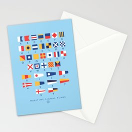 Maritime Nautical Signal Flags Chart - Sky Stationery Cards