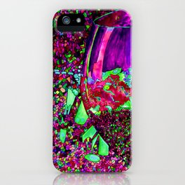 Abstract Wine Glass in Pinks iPhone Case