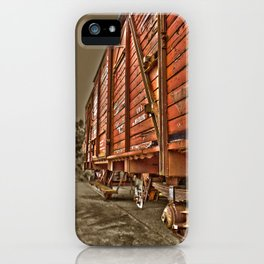 Road less traveled- old train iPhone Case