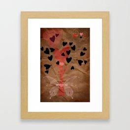 Little tree of love Framed Art Print