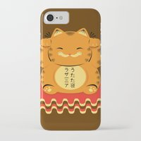 garfield iPhone & iPod Cases featuring Lucky Garfield by Ashley Hay