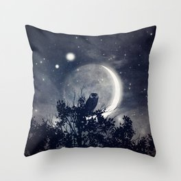 A Night With Venus and Jupiter Throw Pillow