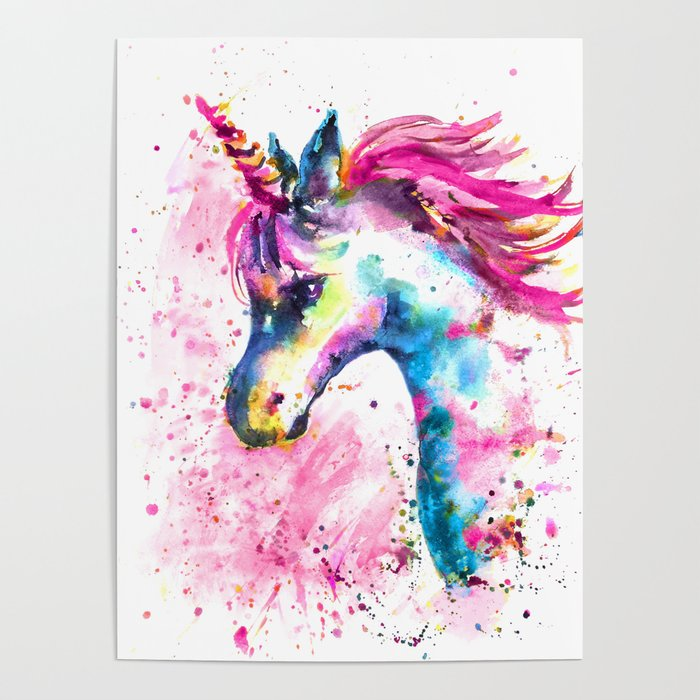 Pink Unicorn Poster By Emmakaufmann Society6