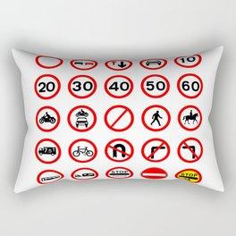Traffic Sign Collection Rectangular Pillow