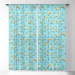 80s mac and cheese Sheer Curtain