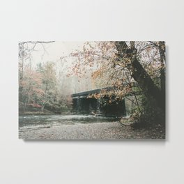 Bridge over Oconaluftee River in North Carolina Metal Print