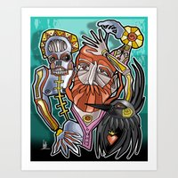 return Art Prints featuring return by arteology