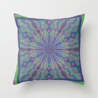grateful dead Throw Pillows featuring Grateful by gretzky
