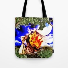 Romanze am Lagerfeuer Tote Bag