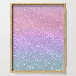 Unicorn Princess Glitter #1 (Photography) #pastel #decor #art #society6 Serving Tray