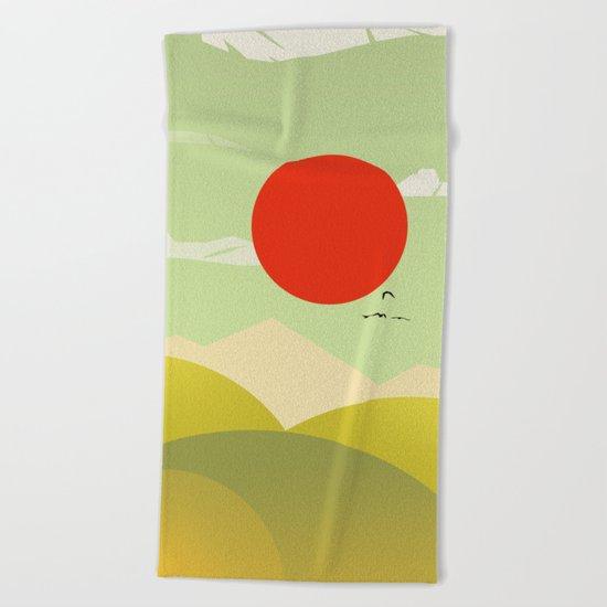 Countryside beauty Beach Towel