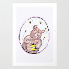 Bumper the Bear. Art Print