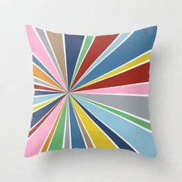 Star Burst Color Throw Pillow