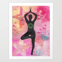 namaste Art Prints featuring Namaste by SannArt