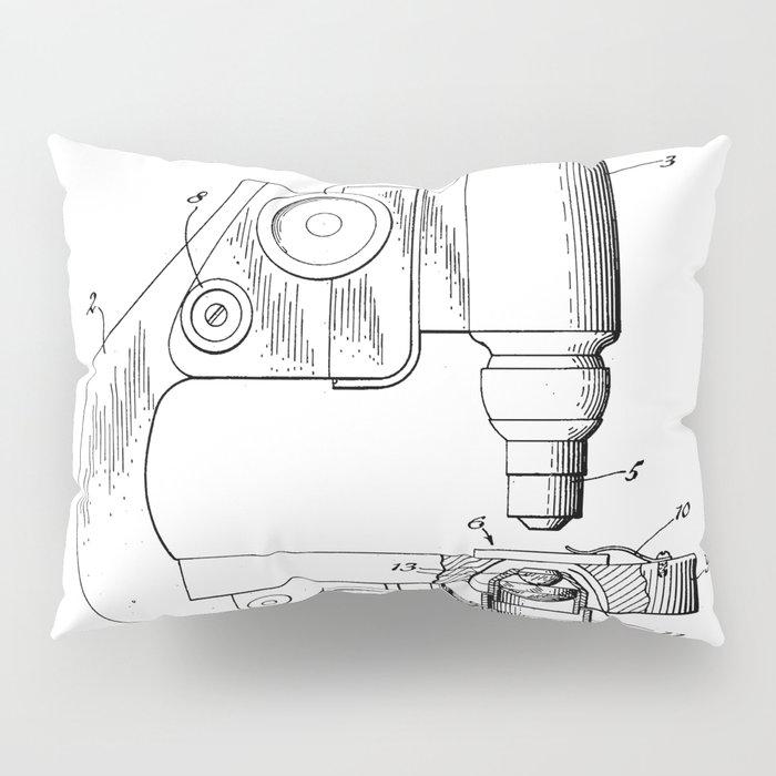 Microscope Patent - Scientist Art - Black And White Pillow Sham