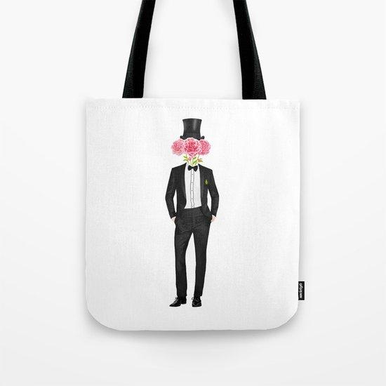 Gentleman with flowers Tote Bag