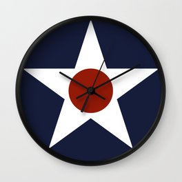 Vintage US Army Air Force Insignia Wall Clock