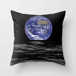 Earth from the moon Throw Pillow