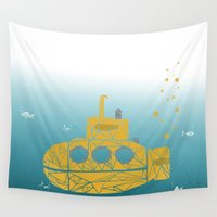 submarine Wall Tapestries featuring YELLOW SUBMARINE by ARCHIGRAF