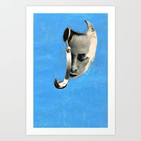 radiohead Art Prints featuring radiohead by tareco