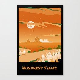 Monument Moon Canvas Print