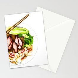 Wantan mee Stationery Cards